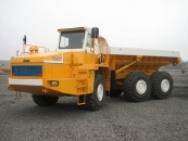 Articulated dump truck BELAZ-75281 with payload capacity of 36 tonnes