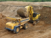 Mining dump truck BELAZ-75471 with payload capacity of 45 tonnes