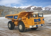 Dump truck MoAZ-75054 with payload capacity of 25 tonnes