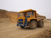 Mining dump truck BELAZ-7555В with payload capacity of 55 tonnes
