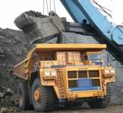 Mining dump truck BELAZ-75306 with payload capacity of 220 tonnes