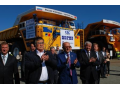 "August 21, 2014 - first mining dump truck BELAZ-75710 with payload capacity of 450 tins was commissioned at ""Chernigovets"" mine CJSC ""Holding Company ""SDS"""